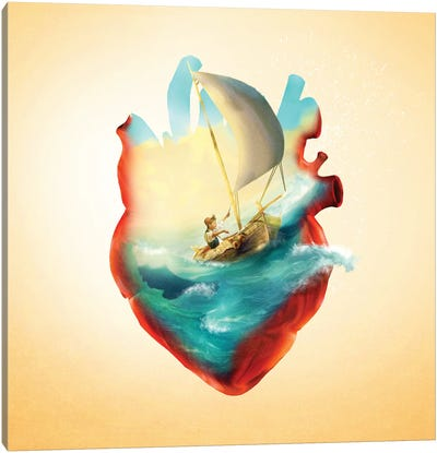 Sailing Heart Canvas Art Print