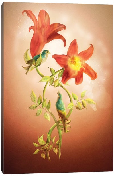 Lovers Flower Canvas Art Print