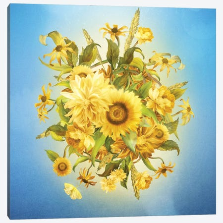 Sunlight Flowers Canvas Print #DVE127} by Diogo Verissimo Canvas Print