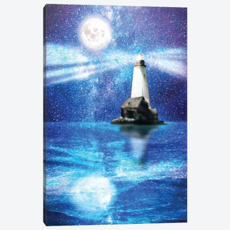 Lighthouse Of Stars Canvas Print #DVE135} by Diogo Verissimo Canvas Art