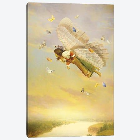 Little Fairy Canvas Print #DVE136} by Diogo Verissimo Canvas Art
