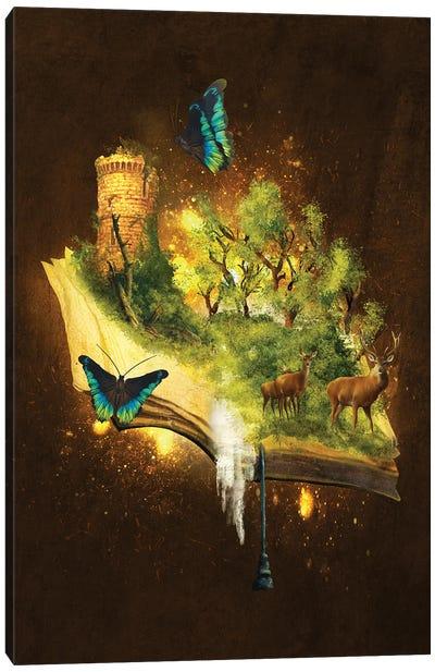 Enchanted Book Canvas Art Print