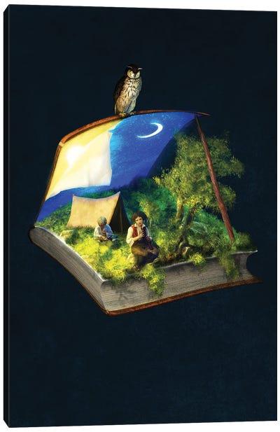 Camping Stories Canvas Art Print