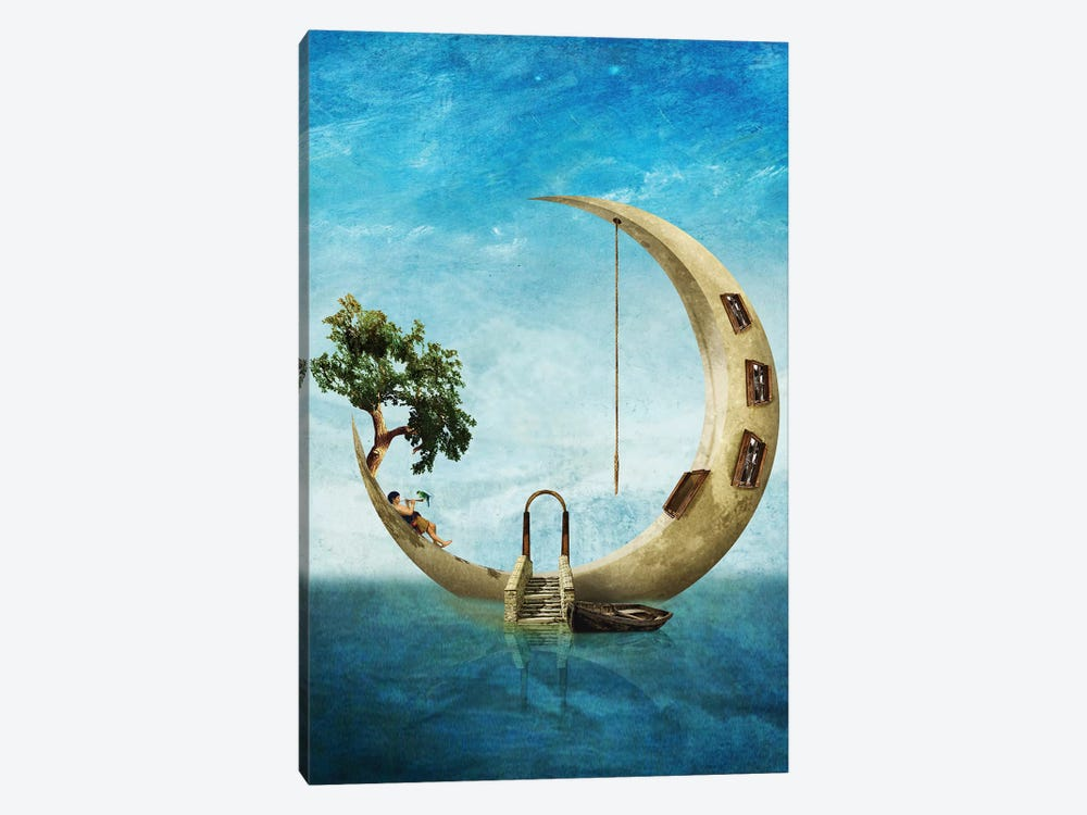 Home Sweet Moon 1-piece Canvas Art