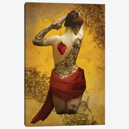 My Heart The Rose Canvas Print #DVE44} by Diogo Verissimo Canvas Wall Art