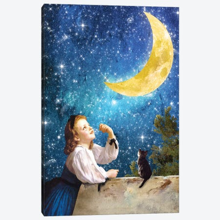 One Wish Upon The Moon Canvas Print #DVE46} by Diogo Verissimo Canvas Art