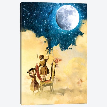 Painting Stars Canvas Print #DVE47} by Diogo Verissimo Canvas Art