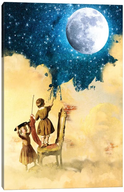 Painting Stars Canvas Art Print