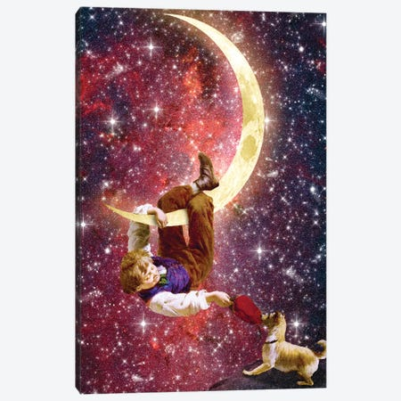 Playing On The Moon Canvas Print #DVE49} by Diogo Verissimo Canvas Print
