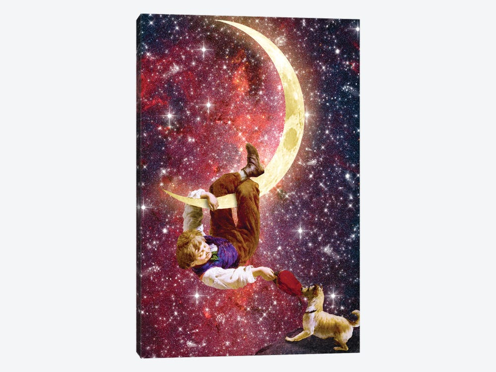 Playing On The Moon by Diogo Verissimo 1-piece Canvas Art