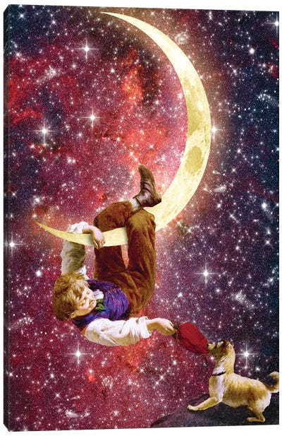 Playing On The Moon Canvas Art Print