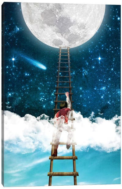 Reach For The Moon I Canvas Art Print