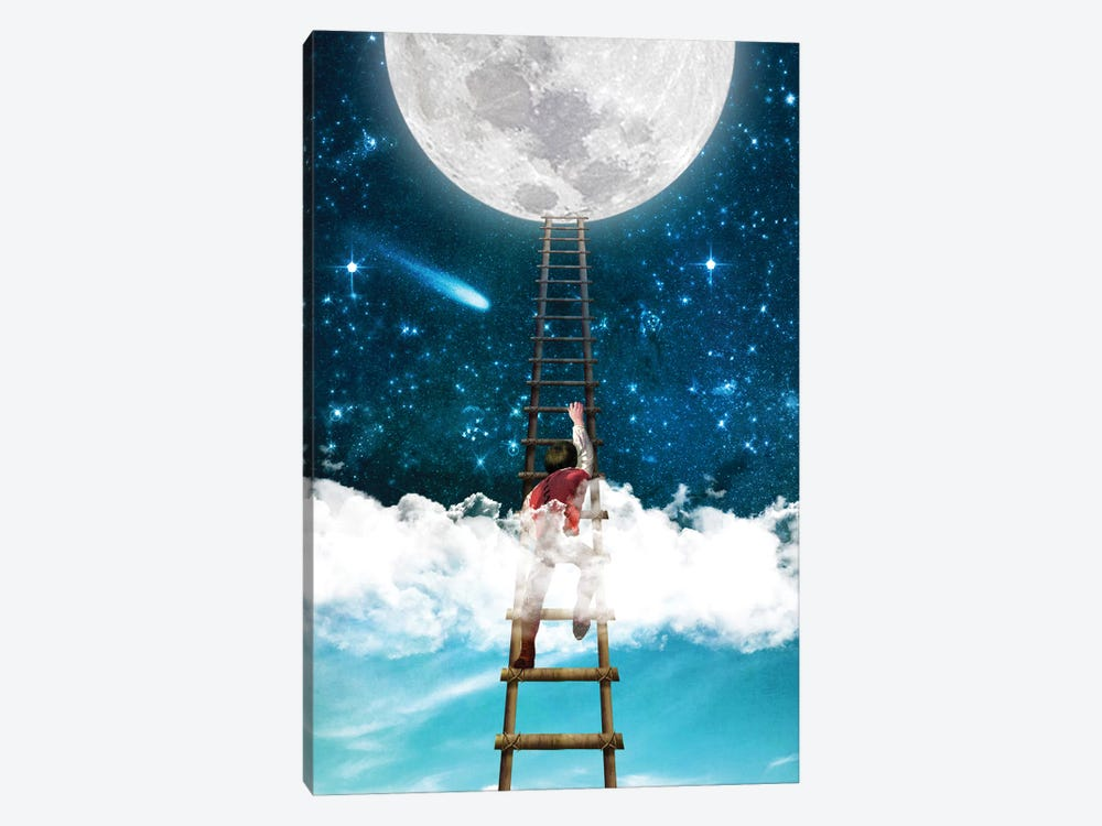 Reach For The Moon I 1-piece Canvas Art Print