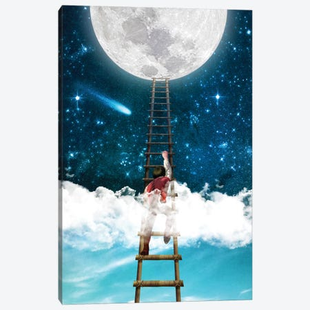 Reach For The Moon I 3-Piece Canvas #DVE51} by Diogo Verissimo Canvas Wall Art