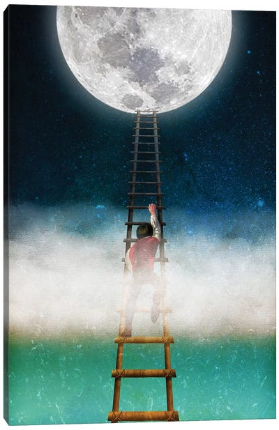 Reach For The Moon II Canvas Art Print