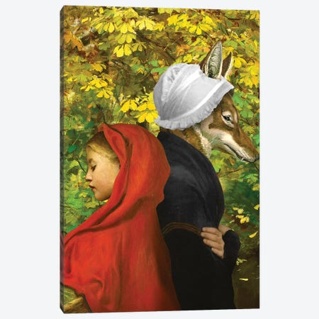 Red Riding Hood 3-Piece Canvas #DVE53} by Diogo Verissimo Canvas Wall Art