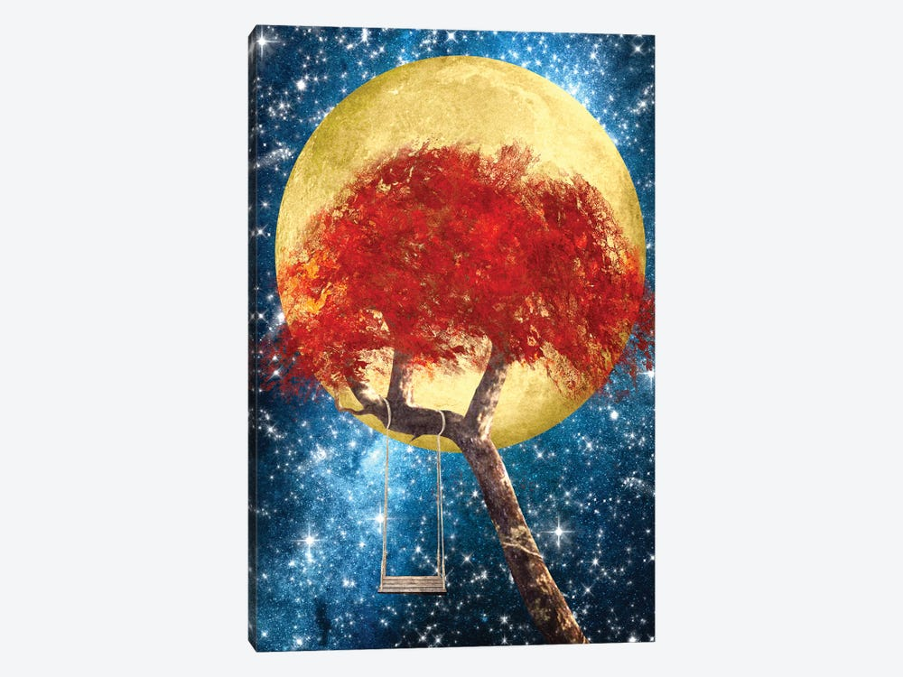 Swing Under A Golden Moonlight by Diogo Verissimo 1-piece Canvas Print