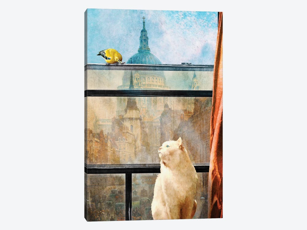 The Bird And The Cat by Diogo Verissimo 1-piece Canvas Wall Art