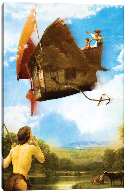 The Flying House Canvas Art Print