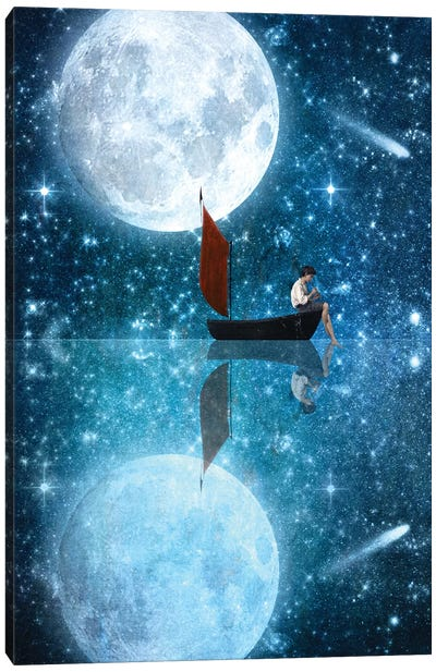 The Moon And Me Canvas Art Print