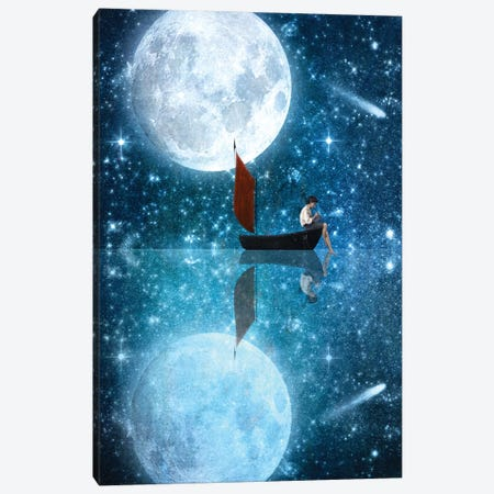 The Moon And Me Canvas Print #DVE70} by Diogo Verissimo Canvas Art