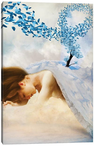 Winter's Mourn Canvas Art Print