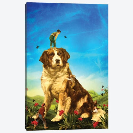 Our Giant Mascot Canvas Print #DVE89} by Diogo Verissimo Art Print