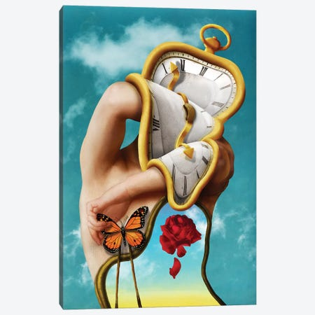The Persistence Of Time 3-Piece Canvas #DVE92} by Diogo Verissimo Canvas Artwork