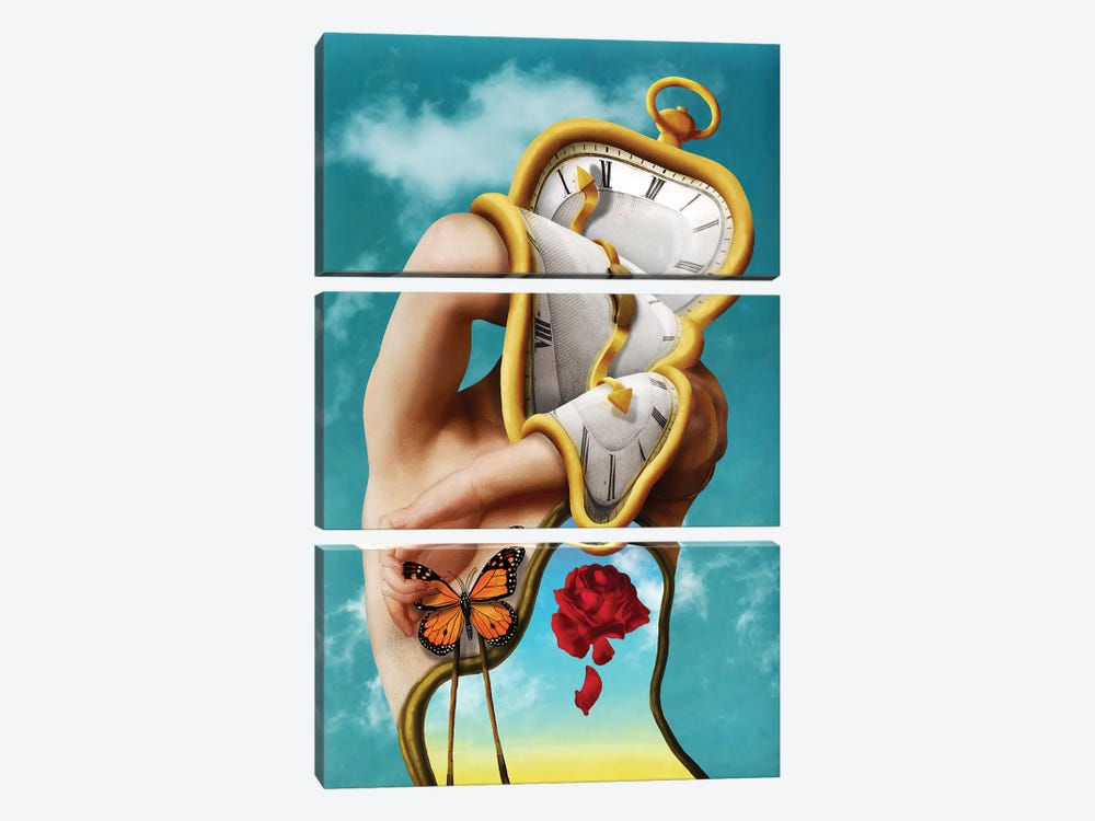 The Persistence Of Time 3-piece Canvas Art