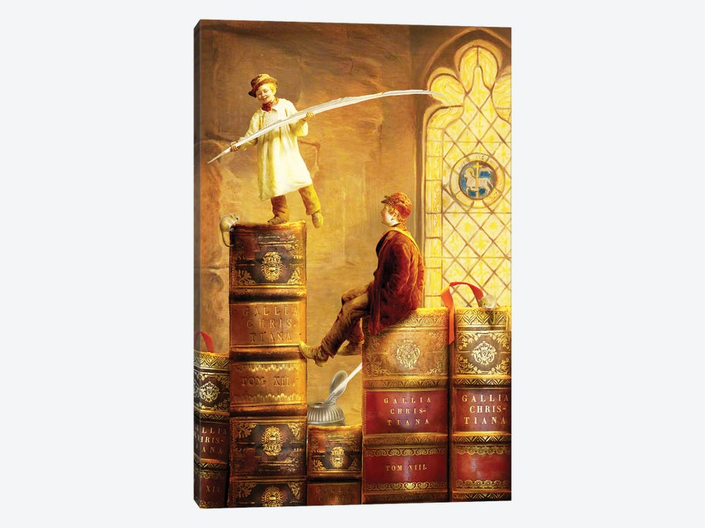 Magic Library by Diogo Verissimo 1-piece Canvas Art