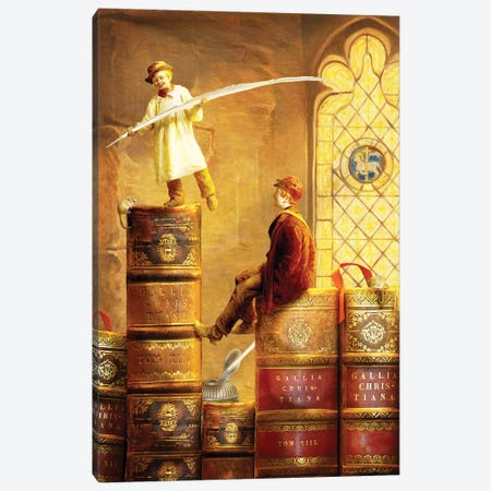 Magic Library Canvas Print #DVE96} by Diogo Verissimo Canvas Print