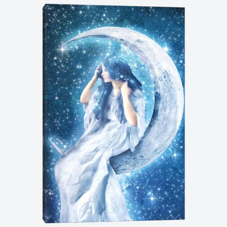 Moon Girl Canvas Print #DVE97} by Diogo Verissimo Canvas Print