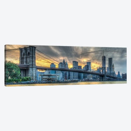 Brooklyn Sunset Canvas Print #DVG103} by David Gardiner Canvas Art Print