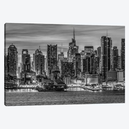 Gotham Black & White Canvas Print #DVG121} by David Gardiner Canvas Art Print