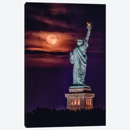 Liberty Moonrise Canvas Print #DVG131} by David Gardiner Canvas Wall Art