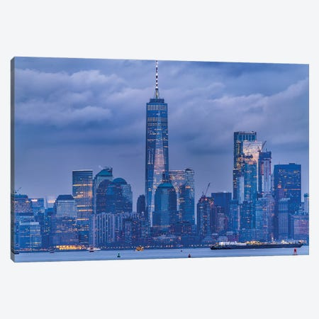 Lower Manhattan Canvas Print #DVG136} by David Gardiner Art Print