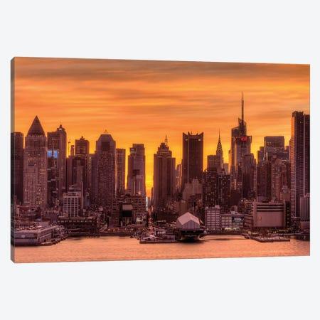 Manhattan Orange Canvas Print #DVG138} by David Gardiner Canvas Art