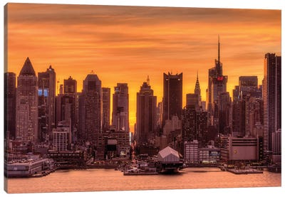 Manhattan Orange Canvas Art Print