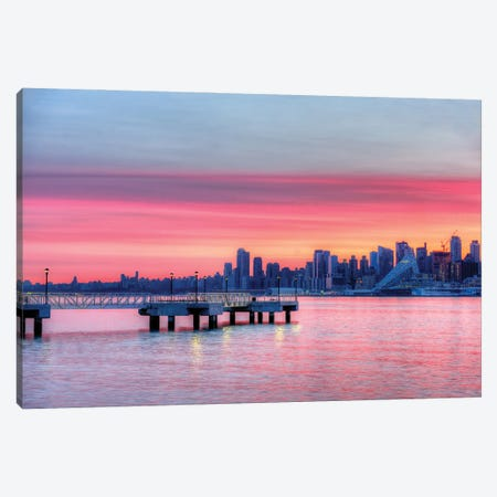 Manhattan Sunrise Canvas Print #DVG140} by David Gardiner Art Print