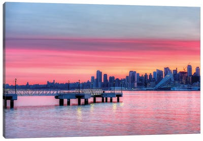 Manhattan Sunrise Canvas Art Print