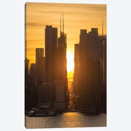 Manhattanhenge Canvas Print #DVG141} by David Gardiner Canvas Print