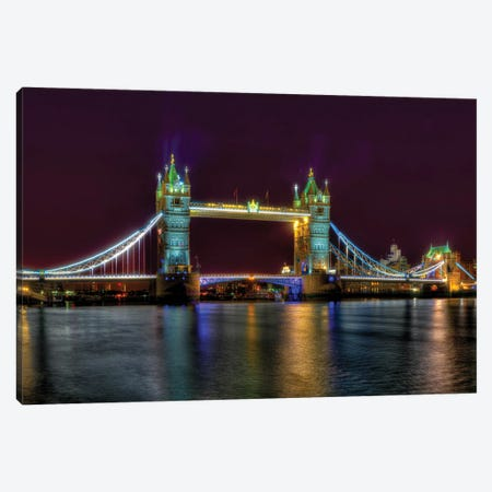 Tower Bridge Canvas Print #DVG170} by David Gardiner Canvas Artwork