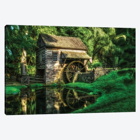 Grist Mill Canvas Print #DVG236} by David Gardiner Canvas Art