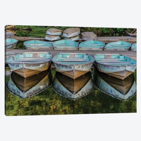 Reflected Boats 3-Piece Canvas #DVG261} by David Gardiner Canvas Art