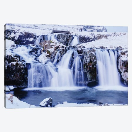 Winter Falls Canvas Print #DVG288} by David Gardiner Canvas Art