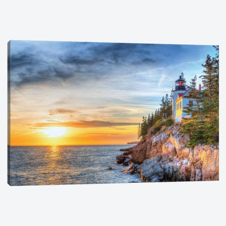 Acadia Sunset Canvas Print #DVG290} by David Gardiner Art Print
