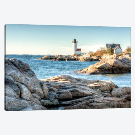 Annisquam Light Canvas Print #DVG292} by David Gardiner Canvas Print