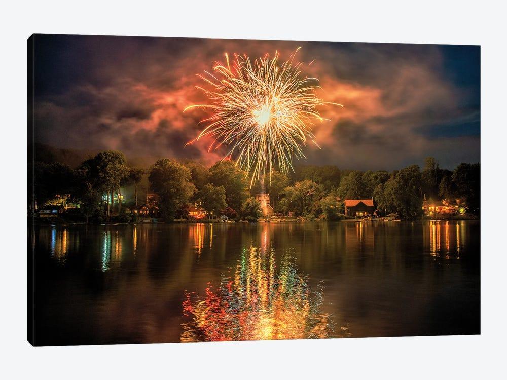 Lake Fireworks by David Gardiner 1-piece Canvas Art