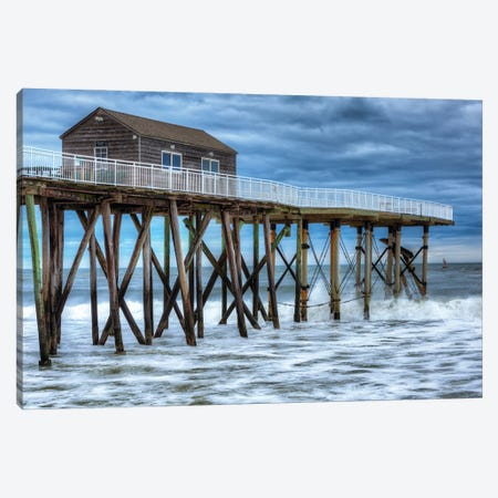 Belmar Pier Canvas Print #DVG336} by David Gardiner Canvas Art Print