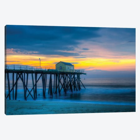 Belmar Sun Up Canvas Print #DVG339} by David Gardiner Canvas Artwork